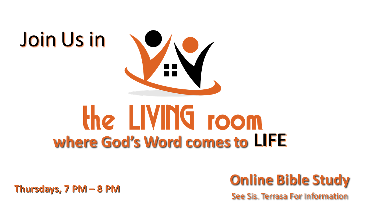 8/30 – the Living room Online Bible Study 7PM-8PM - The Rock Church